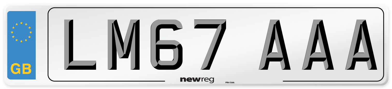 LM67 AAA Number Plate from New Reg